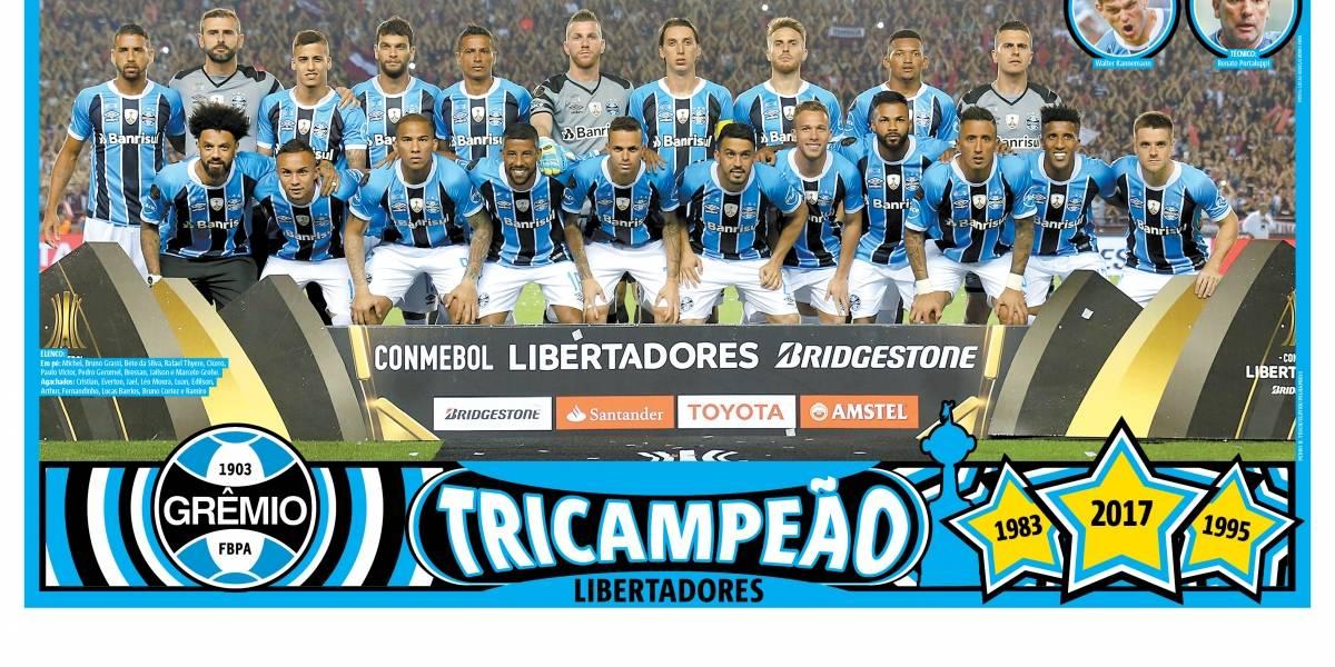 Baixe o pôster do Grêmio campeão da Libertadores