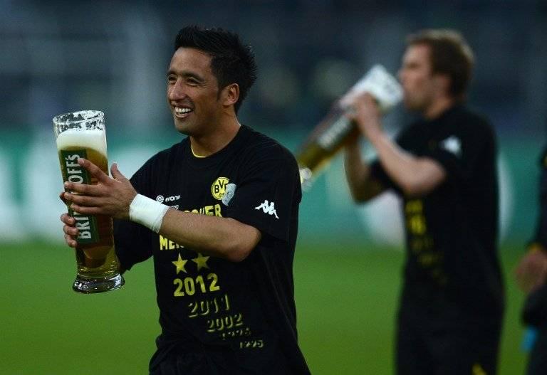 Lucas Barrios supo de celebrar en Alemania / imagen: AFP