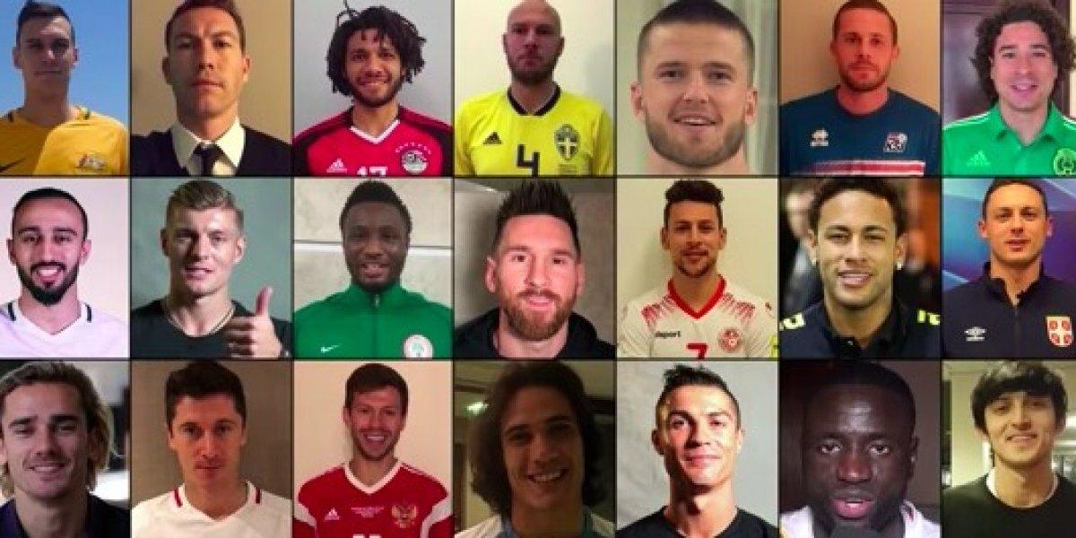 VIDEO: Bienvenido Rusia; celebran jugadores de todo el mundo