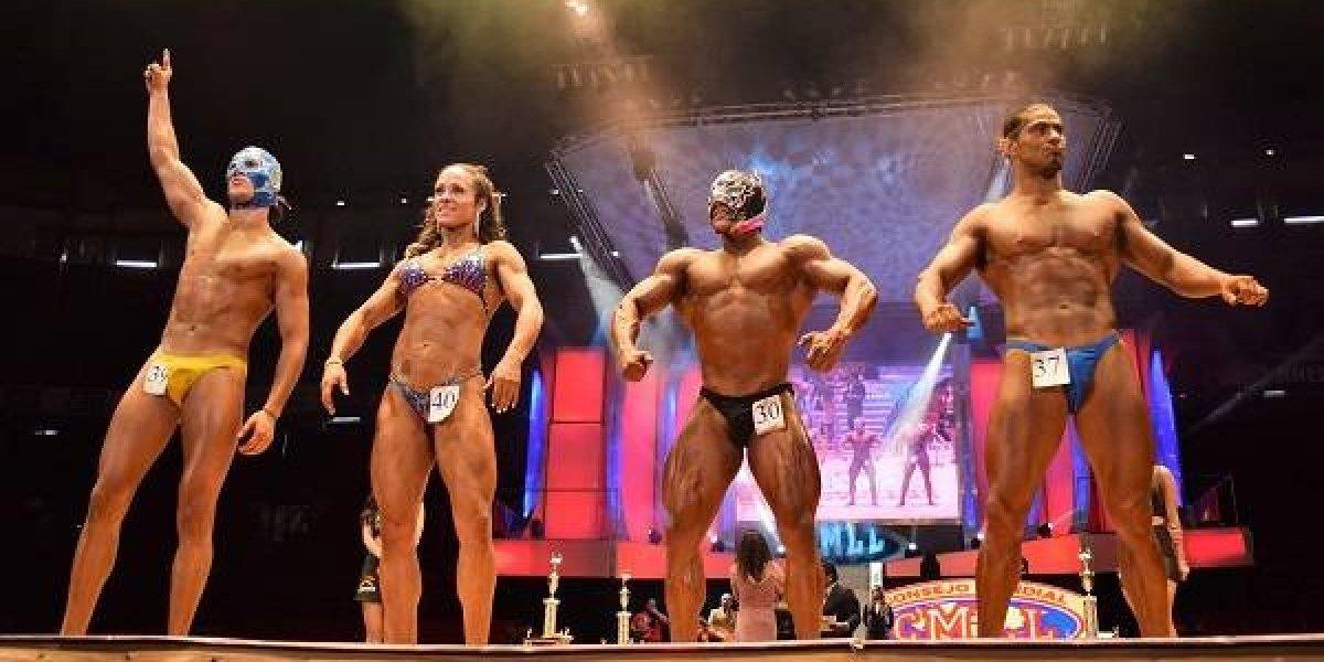 Astral conquistó el título en concurso de fisicoculturismo del CMLL