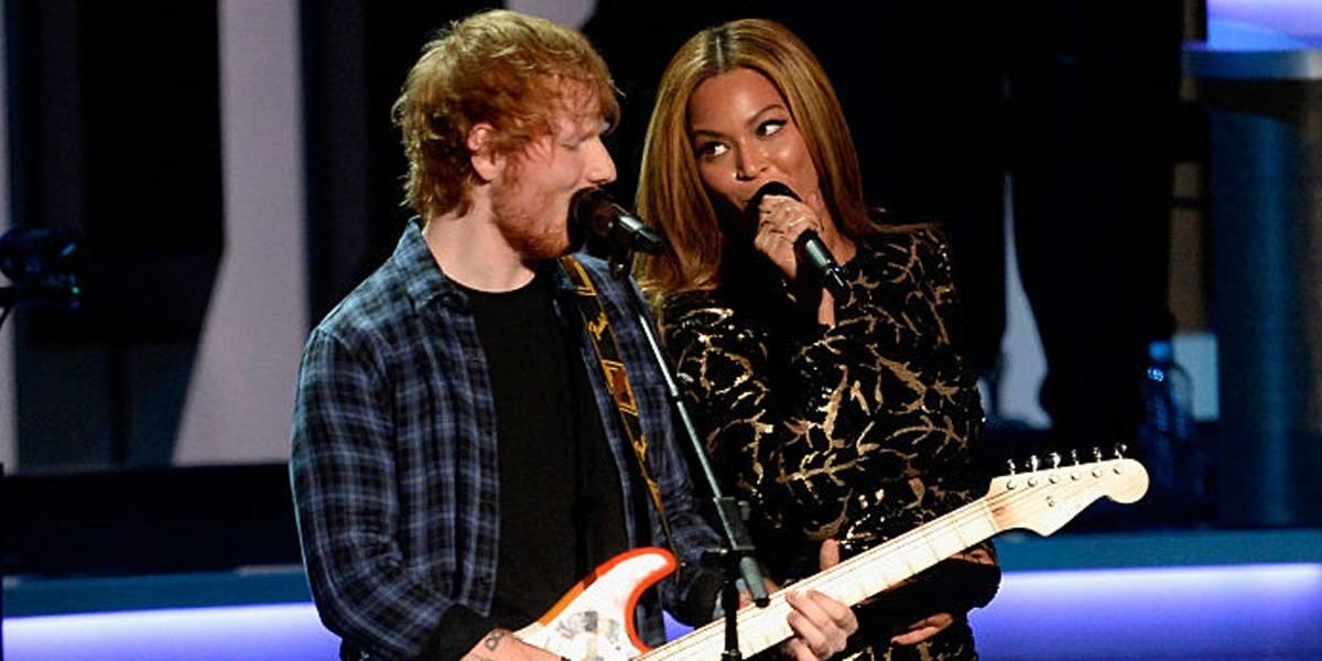 Ed Sheeran conta que Beyoncé troca de endereço de e-mail toda semana: 'Ela é muito boa em se esconder'