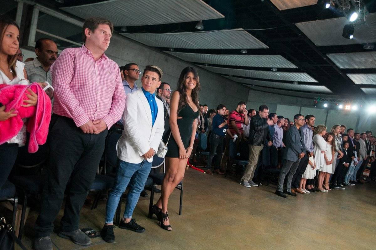 Soteldo disfrutó con toda su familia / imagen: Eduardo Angel