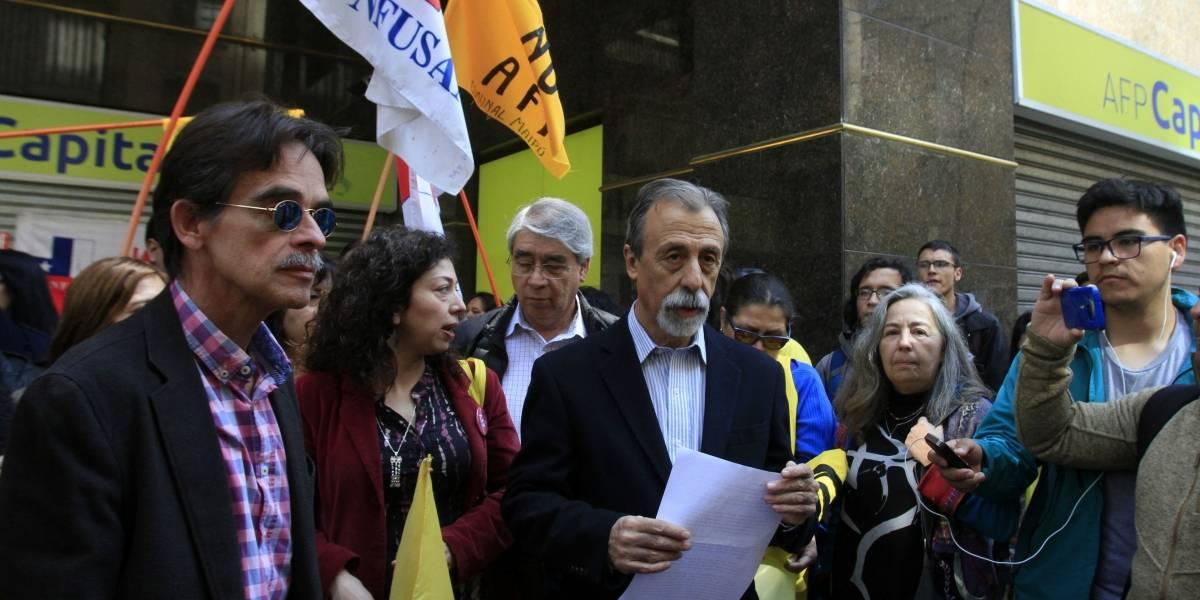 Movimiento No+AFP realiza este jueves nueva jornada nacional de protesta y tendrá reunión con Alejandro Guillier