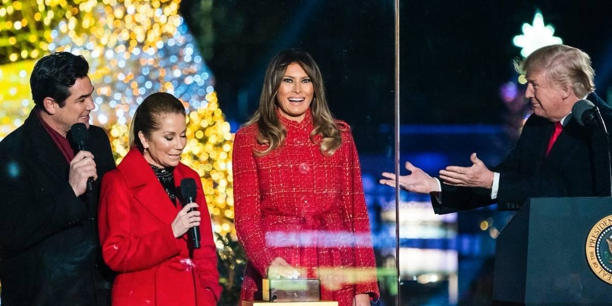 Resultado de imagen para Presidente Donald Trump inauguracion arbol de navidad