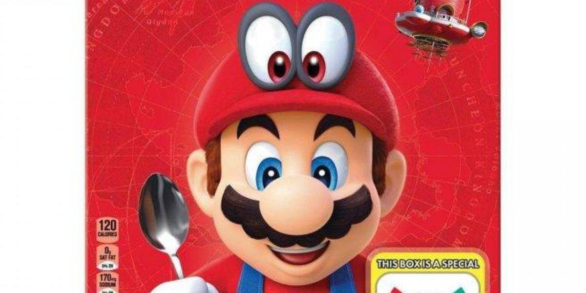 Sí existe el cereal de Super Mario: Kellog's