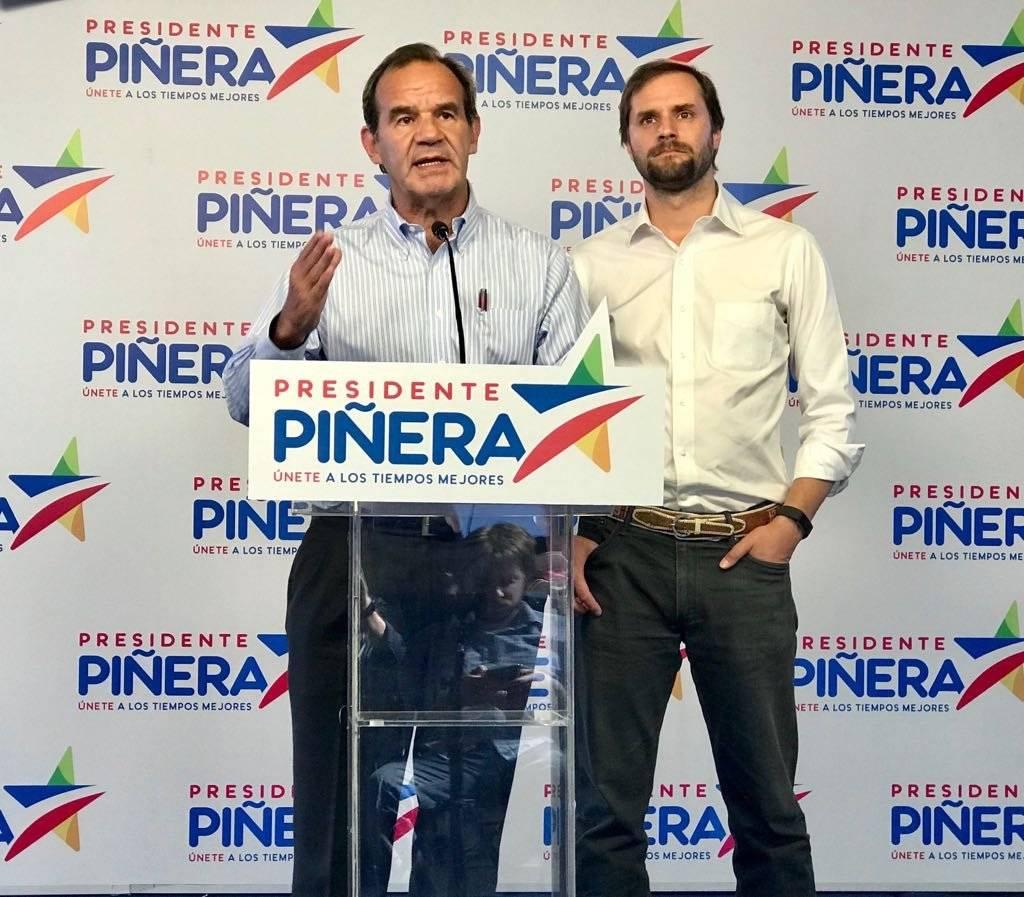 Andrés Allamand junto a Jaime Bellolio.