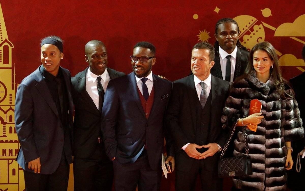 Ronaldinho, Clarence Seedorf, Jay-Jay Okocha, Lothar Matthaus e Nwankwo Kanu | Sergei Karpukhin/Reuters