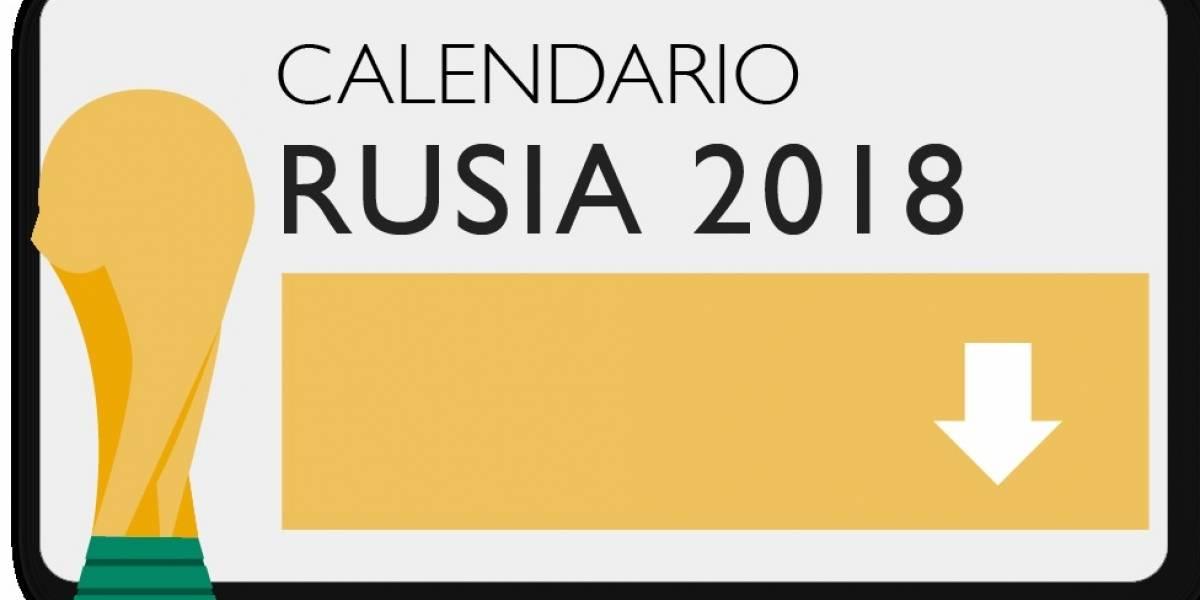 Descarga aquí el calendario de partidos del Mundial de Rusia 2018 con el horario según el país en el que vives