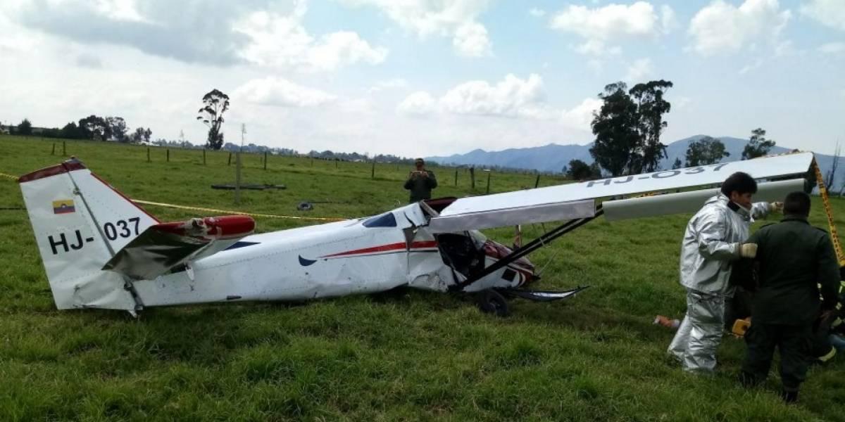 ¡Atención! Cae avioneta en el norte de Bogotá