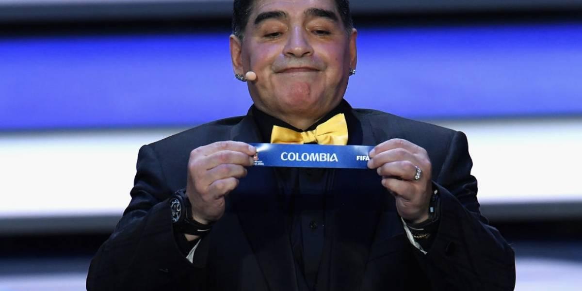 Las redes se burlan de la cara de Maradona al sacar a Colombia