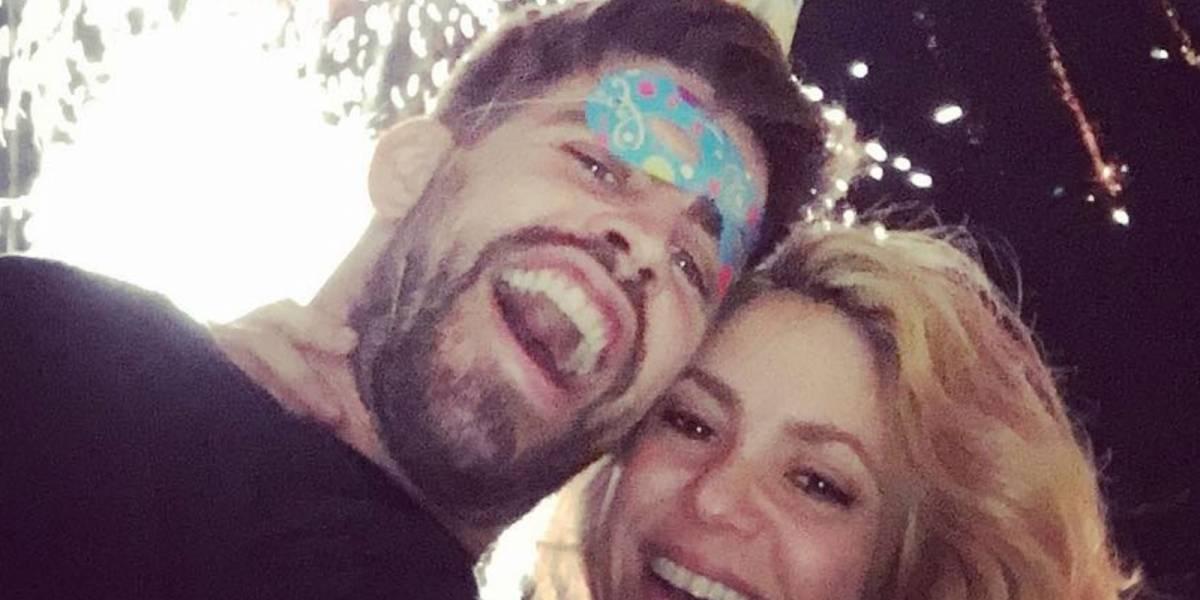 Shakira y Piqué compartieron la postal de fin de año con la que confirmaron su amor