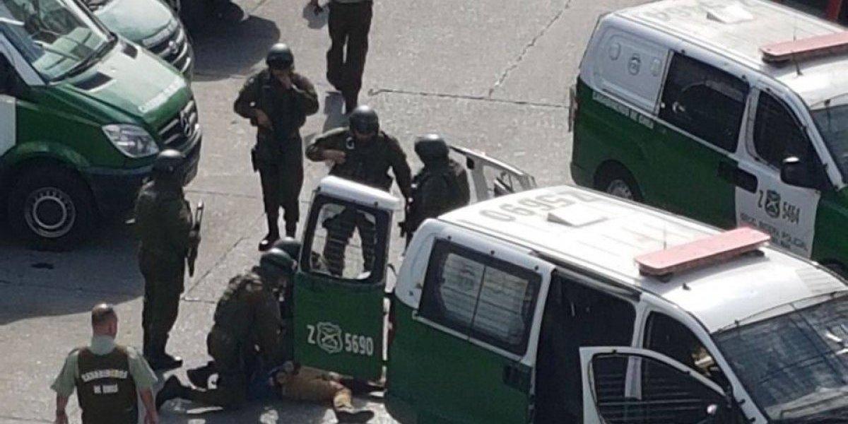 Incidente en Viña del Mar: Hombre detenido dispara en varias oportunidades contra carabineros