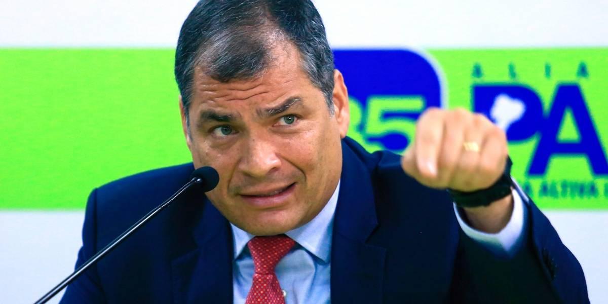 """Correa: mañana en ese """"escondite en la frontera"""""""