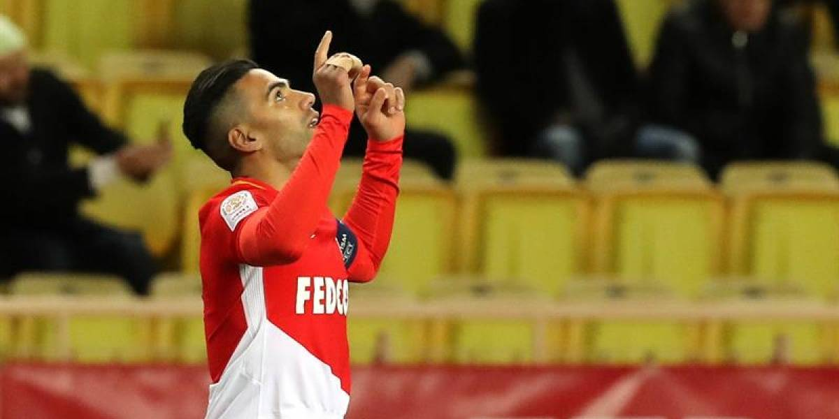 Gol de Falcao: el 'Tigre' abrió el marcador del Mónaco ante el Angers