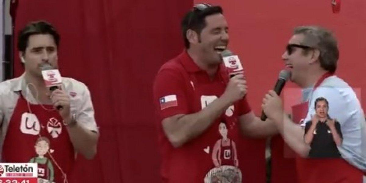 El mejor momento del día en la Teletón: la risa de Viñuela y Pancho Saavedra juntos hicieron estallar las redes