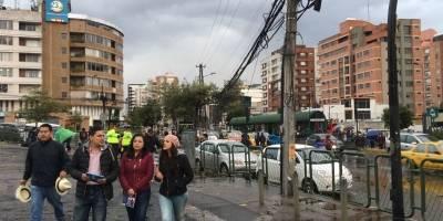Quito: Tráfico en la Av. 6 de diciembre y Naciones Unidas previo al concierto de Bruno Mars