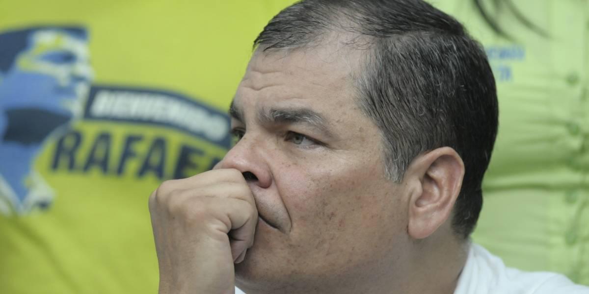 Rafael Correa se pronunció tras el sismo en Manabí