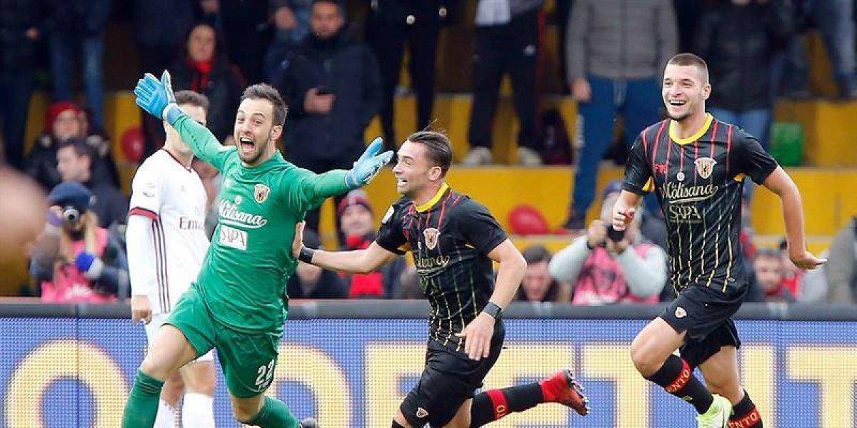 Histórico: El arquero del Benevento consiguió el primer punto del club en primera división