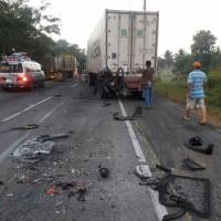 Accidente ruta a puerto Quetzal