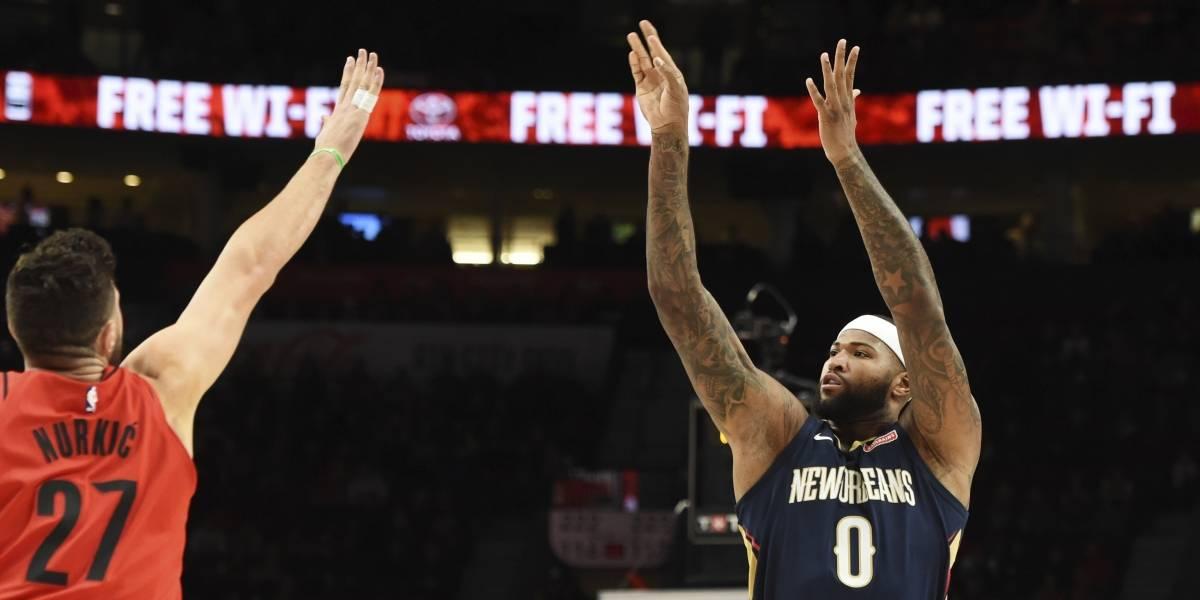 Cousins aporta 38 puntos a triunfo de Pelicans sobre Blazers