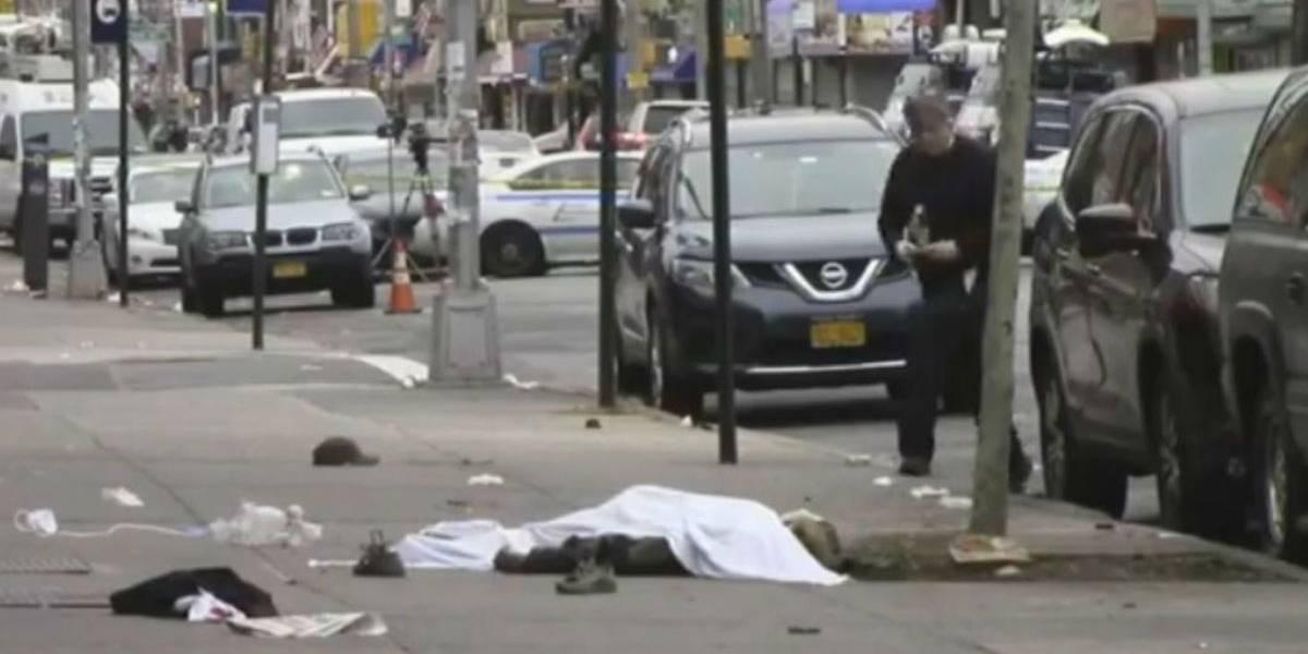 Atropelamento intencional deixa um morto e três feridos em Nova York