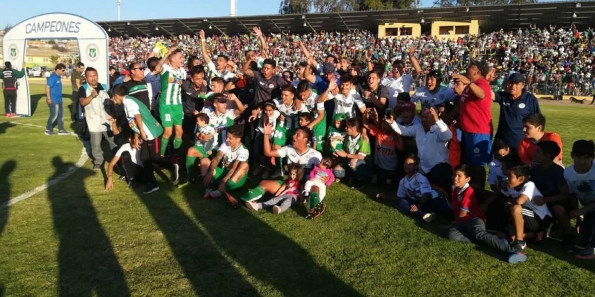 Vallenar se coronó campeón de la 2ª División y peleará con Melipilla el cupo a Primera B