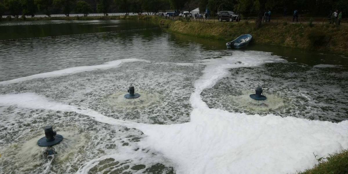 Entregan sistema de tratamiento del Lago de Amatitlán