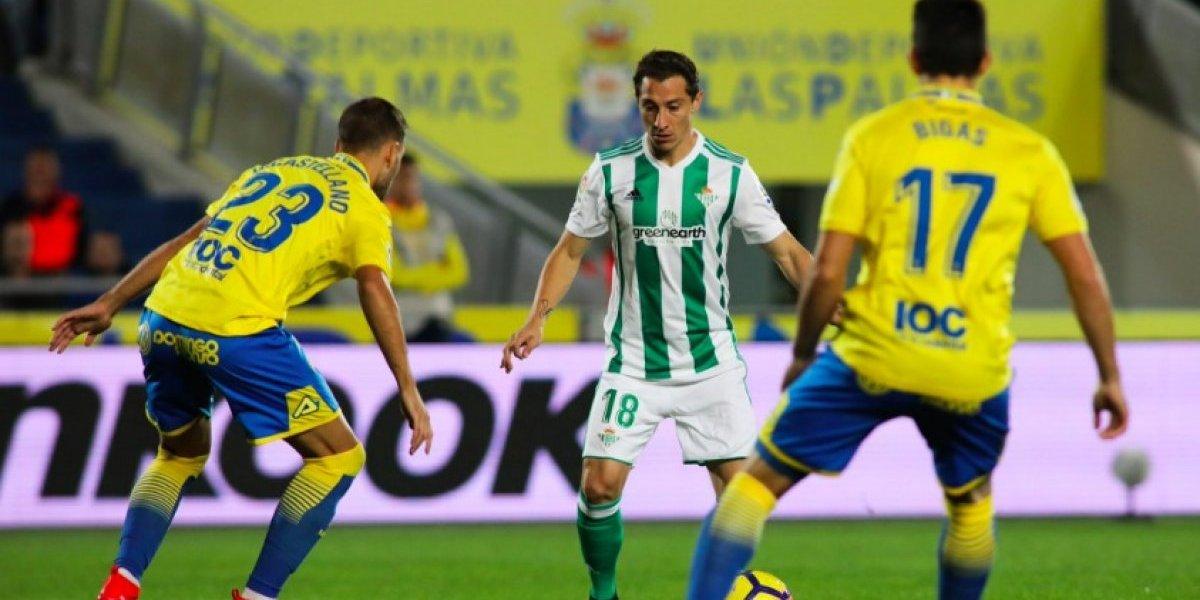 Guardado y el Betis sufren derrota ante Las Palmas
