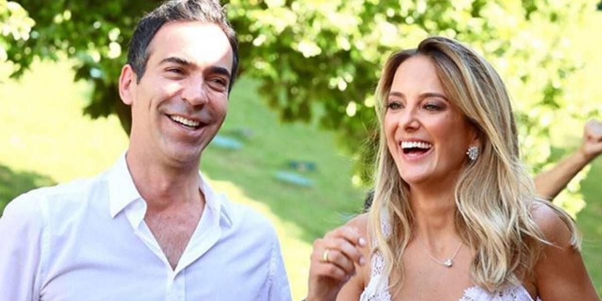 Em vídeo de casamento, César Tralli cai no choro ao abraçar Rafa Justus; veja