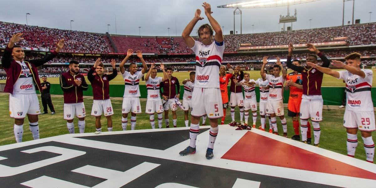 Na despedida de Lugano, São Paulo empata com o Bahia com gol do jovem Brenner