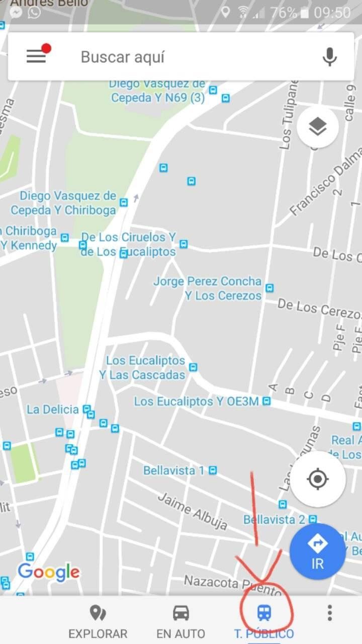 Google Maps Transporte público