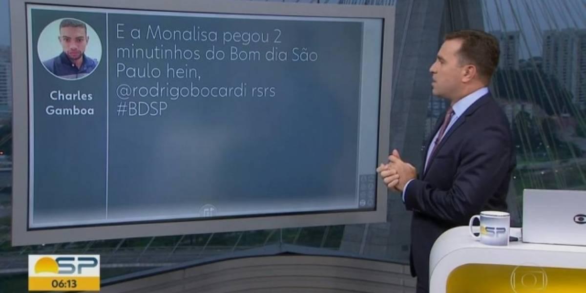 Bocardi culpa Monalisa Perrone por atraso no 'Bom Dia São Paulo'