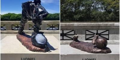 Estatua de Lionel Messi, vandalizada en dos ocasiones