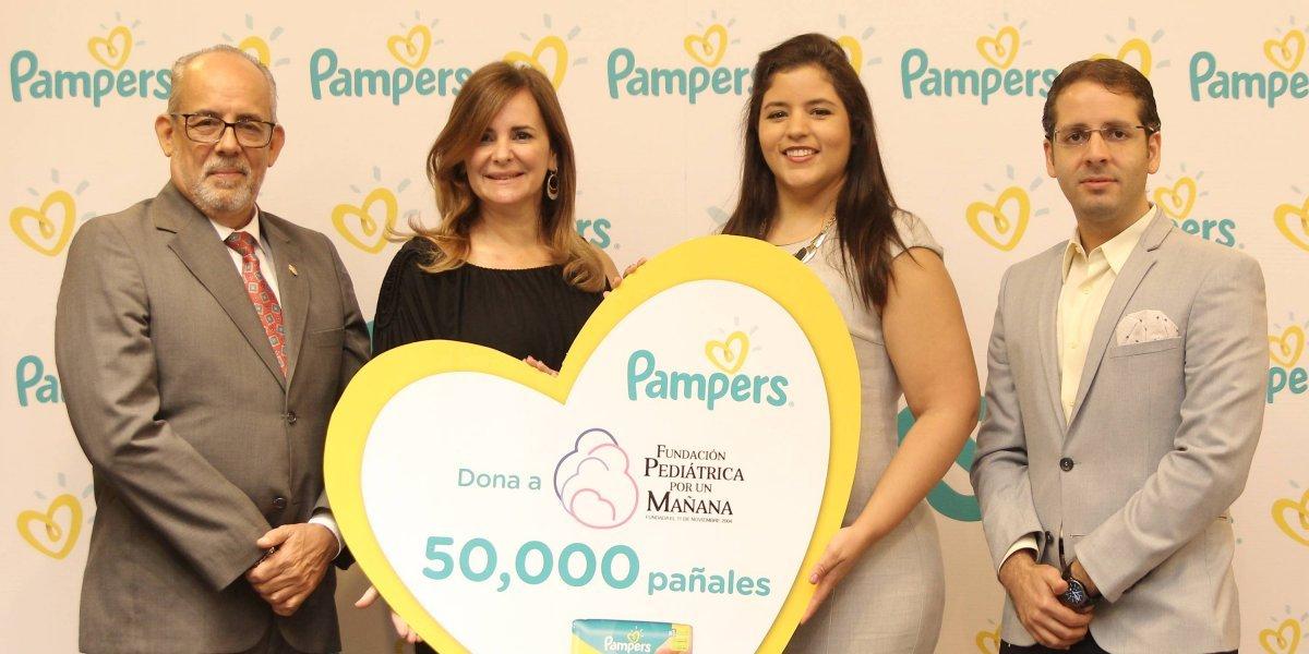 """#TeVimosEn: Pampers realizó donación a la """"Fundación Pediátrica por un Mañana"""""""