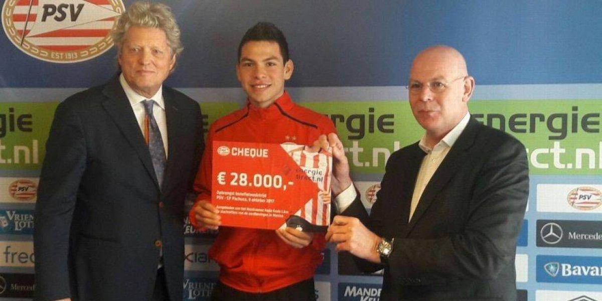 Lozano y PSV donaron más de medio millón de pesos