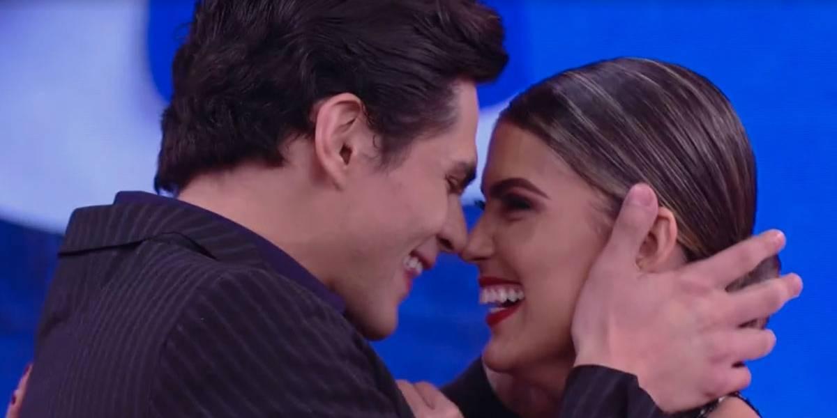 Ao vivo, Lucas Veloso pede sua parceira no Dança dos Famosos em namoro
