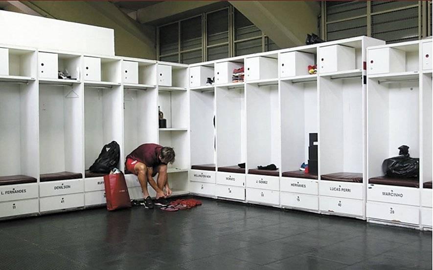 Lugano foi na segunda-feira (4) ao CT esvaziar o seu armário Rubens Chiri/saopaulofc.net