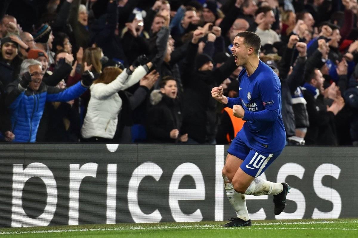 Hazard marcó el empate para el Chelsea y terminó con el sueños de los españoles.