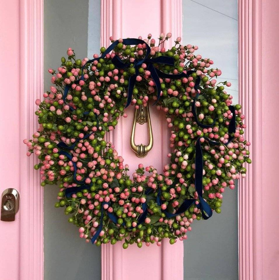 navidad color rosa