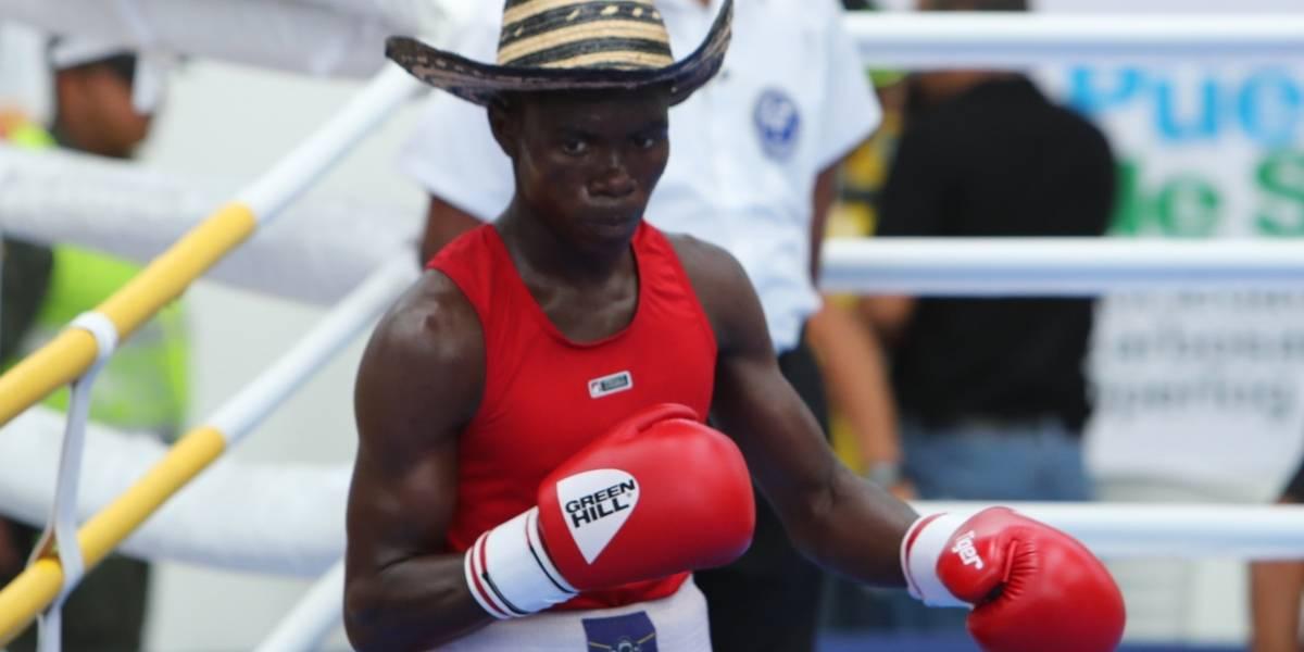 Yuberjen Martínez entrenando con su nuevo 'sparring': su mamá