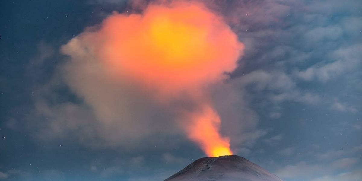 Sernageomin decretó alerta amarilla en Volcán Villarrica