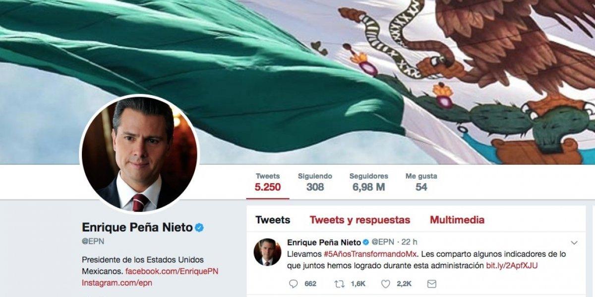 @EPN, el sexto líder mundial más mencionado en Twitter en 2017