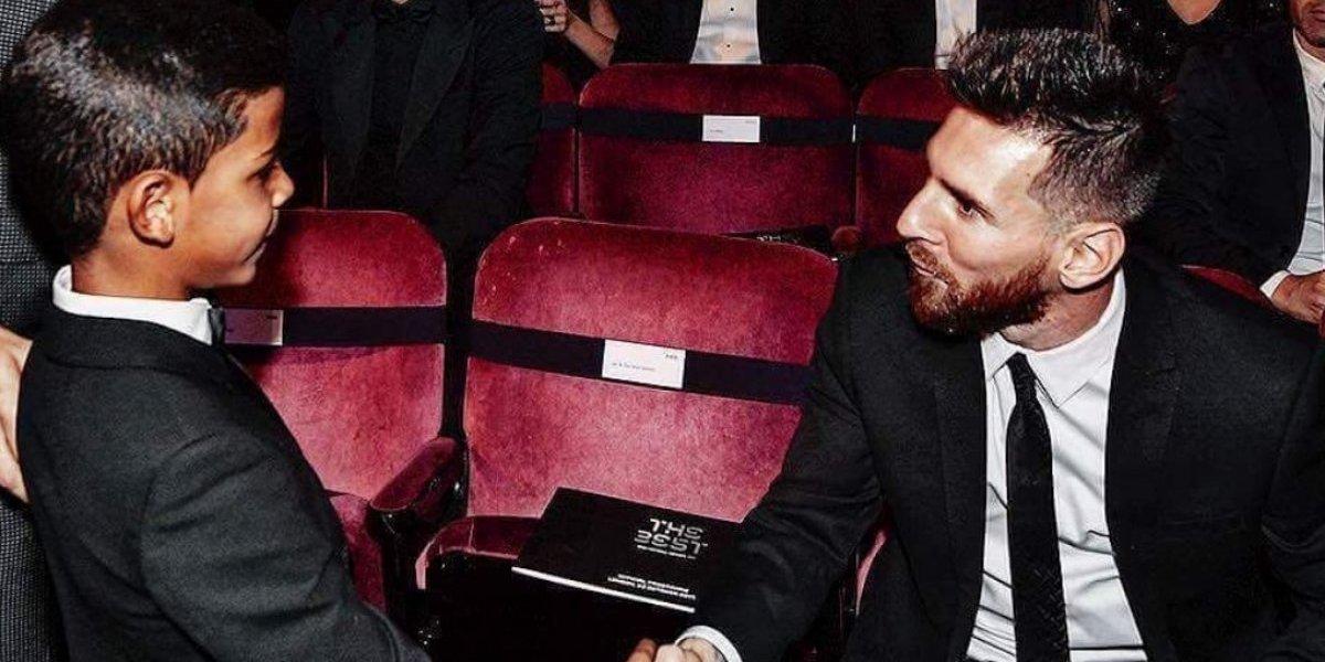 Hijo de Cristiano se estrena en Instagram con mensaje a Messi: 'Gracias, mi ídolo'