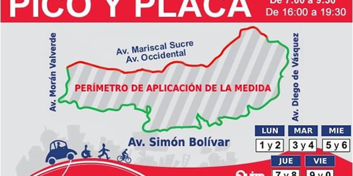 Pico y Placa no regirá el 6 de diciembre