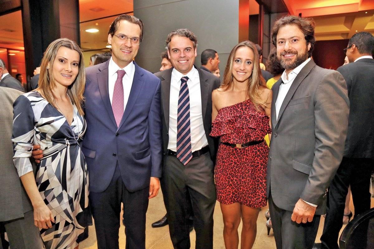 Mariana Nogueira, Frederico Pinheiro, Iago Marinho, Camila Abreu e André Campos Anna Castelo Branco