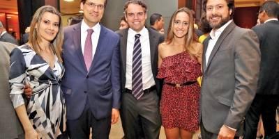 Mariana Nogueira, Frederico Pinheiro, Iago Marinho, Camila Abreu e André Campos