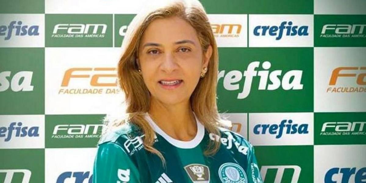 Leila Pereira desafia Mustafá no Palmeiras: 'Não tem mais força'