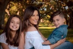 Gaby Espino y sus hijos Oriana y Nickolas