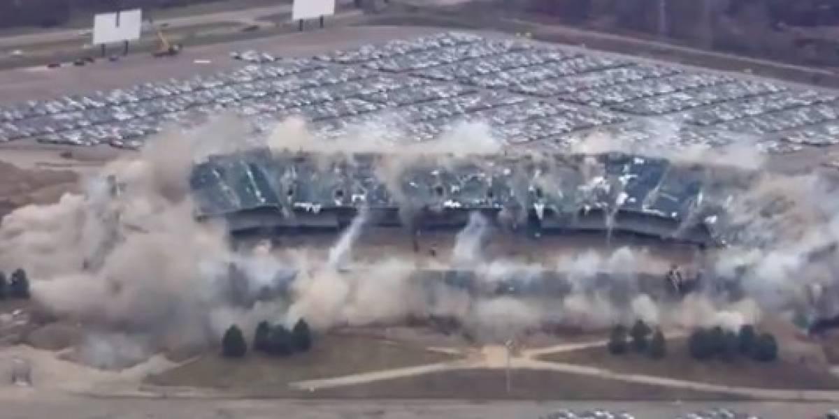 VIDEO: Ahora sí pudieron derrumbar el Silverdome