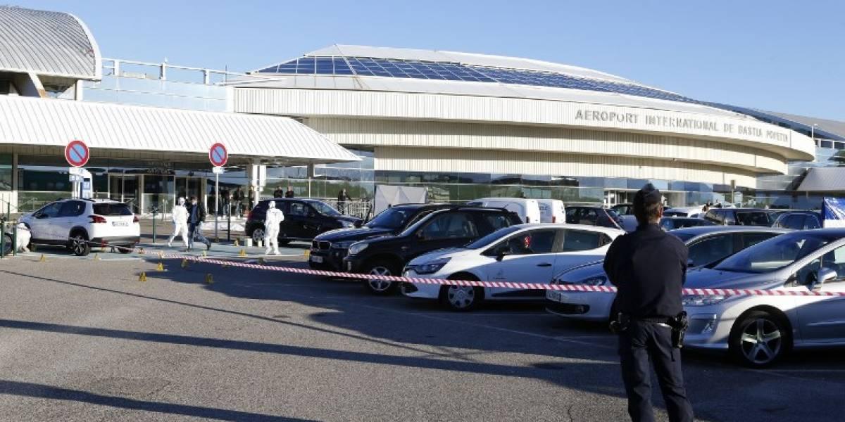 Tiroteo en aeropuerto de isla francesa de Córcega deja un fallecido